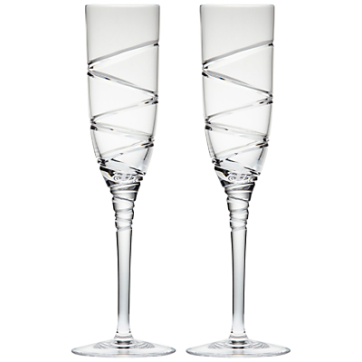 Waterford Jasper Conran Aura Crystal Champagne Flutes, Set of 2