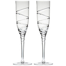 Buy Waterford Jasper Conran Aura Crystal Champagne Flutes, Set of 2 Online at johnlewis.com