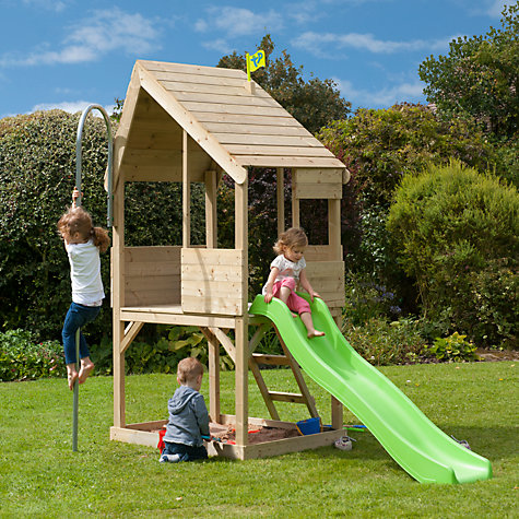 Buy Tp Toys Tp321s Wooden Playhouse Amp Slide Set John Lewis