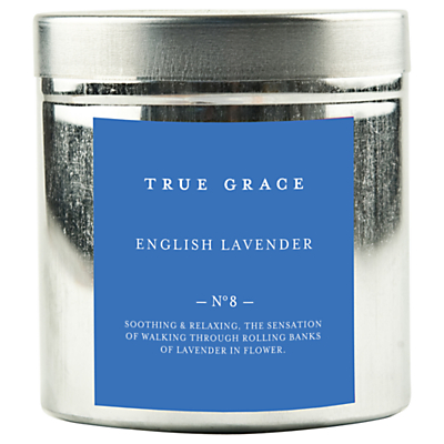 True Grace English Lavender Scented Candle Tin