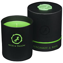 Buy Wick & Tallow Bergamot & Basil Scented Candle Online at johnlewis.com