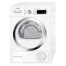 Buy Bosch WTW87560GB Heat Pump Condenser Tumble Dryer, 9kg Load, A++ Energy Rating, White Online at johnlewis.com