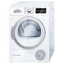 Buy Bosch WTW85490GB Heat Pump Condenser Tumble Dryer, 8kg Load, A++ Energy Rating, White Online at johnlewis.com