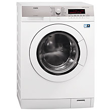 Buy AEG L87680FL Freestanding Washing Machine, 8kg Load, A+++ Energy Rating, 1600rpm Spin, White Online at johnlewis.com