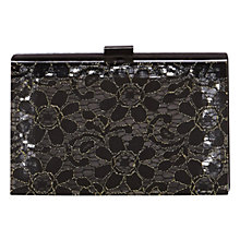 Buy Coast Lace Box Clutch, Black Online at johnlewis.com