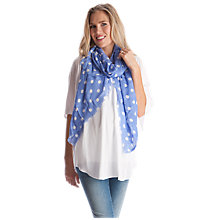 Buy Séraphine Dori Polka Dot Scarf, Blue/White Online at johnlewis.com