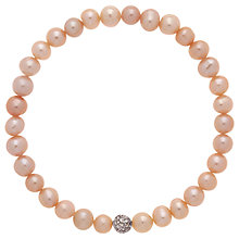 Buy Finesse Freshwater Faux Pearl Rhodium Plating Bracelet Online at johnlewis.com
