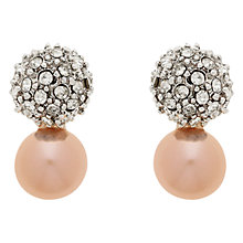 Buy Finesse Freshwater Faux Pearl Rhodium Plating Stud Earrings Online at johnlewis.com