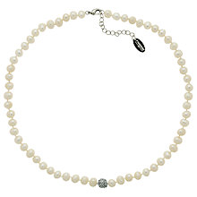 Buy Finesse Freshwater Faux Pearl Rhodium Plating Necklace Online at johnlewis.com