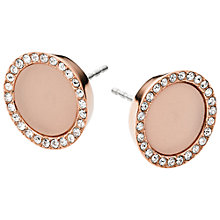 Buy Michael Kors Stud Earrings, Rose Gold Online at johnlewis.com