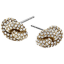 Buy Michael Kors Brilliance Knot Earrings, Gold Online at johnlewis.com