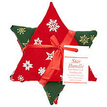 Buy John Lewis Star Bundle, Red/Green/White Online at johnlewis.com