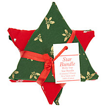 Buy John Lewis Holly Star Bundle, Red/Gold/White Online at johnlewis.com