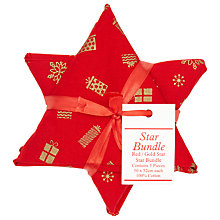 Buy John Lewis Star Bundle, Red/Gold Online at johnlewis.com