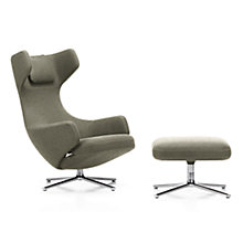 Buy Vitra Grand Repos Dumet Fabric Chair and Ottoman, Ginger Online at johnlewis.com