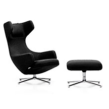 Buy Vitra Grand Repos Cosy Fabric Chair and Ottoman, Merino Online at johnlewis.com