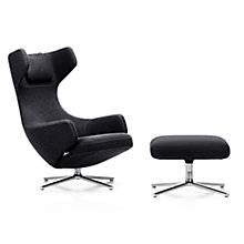 Buy Vitra Grand Repos Credo Fabric Chair and Ottoman, Black Online at johnlewis.com