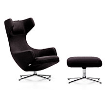 Buy Vitra Grand Repos Cosy Fabric Chair and Ottoman, Aubergine Online at johnlewis.com
