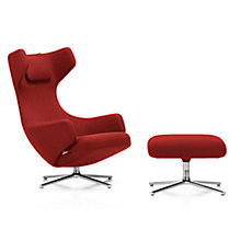 Buy Vitra Grand Repos Credo Fabric Chair and Ottoman, Chilli Red Online at johnlewis.com