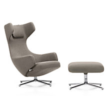 Buy Vitra Grand Repos Cosy Fabric Chair and Ottoman, Fossil Online at johnlewis.com