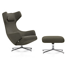 Buy Vitra Grand Repos Dumet Fabric Chair and Ottoman, Sand Online at johnlewis.com