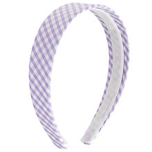 Buy John Lewis Girl Gingham Headband Online at johnlewis.com
