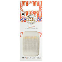 Buy The Great British Sewing Bee Sharp Hand Needles, Pack of  20 Online at johnlewis.com