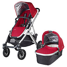 Buy Uppababy Vista 2015 Pushchair and Carrycot, Denny Red Online at johnlewis.com