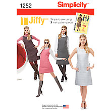 Buy Simplicity Women's Vintage Shift Dress Sewing Pattern, 1252 Online at johnlewis.com