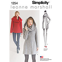 Buy Simplicity Leanne Marshall Women's Coat Sewing Pattern, 1254 Online at johnlewis.com