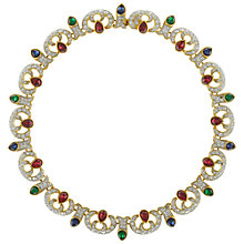 Buy Eclectica Vintage 1980s Attwood & Sawyer Gold Plated Swarovski Crystal Necklace, Multi Online at johnlewis.com