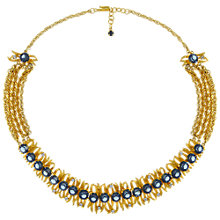 Buy Eclectica Vintage 1960s Kramer Gold Plated Glass Stone Necklace, Blue Online at johnlewis.com