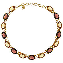 Buy Eclectica Vintage 1980s Swarovski Gold Plated Necklace, Purple Online at johnlewis.com