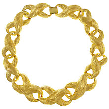 Buy Eclectica Vintage 1980s Givenchy Gold Plated Rope Necklace, Gold Online at johnlewis.com