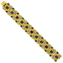 Buy Eclectica Vintage 1960s Ciner Gold Plated Swarovski Crystal Bracelet, Gold Online at johnlewis.com