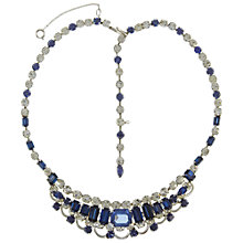 Buy Eclectica Vintage 1950s Mitchell Maer Rhodium Plated Rhinestone Necklace, Blue/Silver Online at johnlewis.com