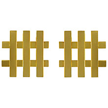Buy Eclectica Vintage 1968 Christian Dior Gold Plated Trellis Clip-On Earrings, Gold Online at johnlewis.com