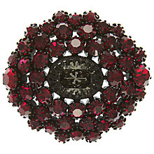 Buy Eclectica Vintage 1950s Japaned Plate Ruby Rhinestone Brooch, Grey/Red Online at johnlewis.com