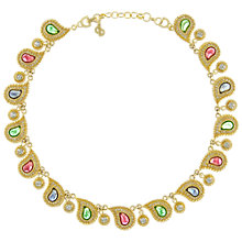 Buy Eclectica Vintage 1970s Christian Dior Crystal Paisley Necklace, Multi Online at johnlewis.com