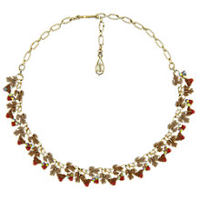 Buy Eclectica Vintage 1950s Jewelcraft Gold Plated Enamel Necklace, Brown Online at johnlewis.com