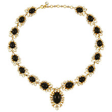 Buy Eclectica Vintage 1960s Gold Plated Black Cabochon Rhinestone Necklace, Black/Gold Online at johnlewis.com