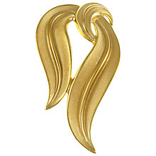 Buy Eclectica Vintage 1950s Trifari Gold Plated Abstract Brooch, Gold Online at johnlewis.com