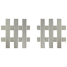 Buy Eclectica Vintage 1969 Christian Dior Rhodium Plated Trellis Clip-On Earrings, Silver Online at johnlewis.com