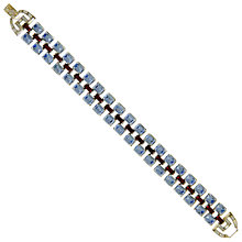 Buy Eclectica Vintage 1950s Trifari Rhodium Plated Glass Stone Bracelet, Blue/Red Online at johnlewis.com