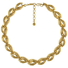 Buy Eclectica Vintage 1950s Trifari Gold Plated Ribbon Necklace, Gold Online at johnlewis.com