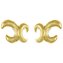 Buy Eclectica Vintage 1980s Givenchy Gold Plated Abstract Clip-On Earrings, Gold Online at johnlewis.com