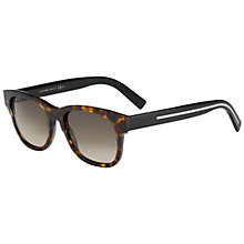 Buy Christian Dior Blacktie196S Polarised Rectangular L1LHA Sunglasses, Brown Online at johnlewis.com