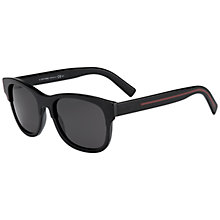 Buy Christian Dior Blacktie196S Polarised Rectangular L23Y1 Sunglasses, Red Online at johnlewis.com