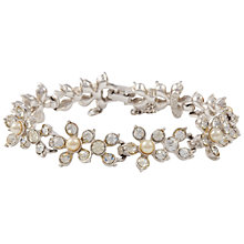 Buy Susan Caplan Vintage 1960's Sarah Coventry Silver Plated Crystal Flower Bracelet, Pearl Online at johnlewis.com