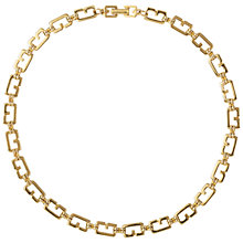 Buy Susan Caplan Vintage 1980's Vintage Givenchy G Link Gold Plated Necklace, Gold Online at johnlewis.com